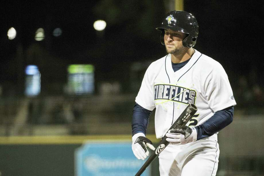 Tim Tebow has been promoted to the New York Mets' high Class A affiliate in St. Lucie, Florida. Photo: The Associated Press File Photo  / The Associated Press