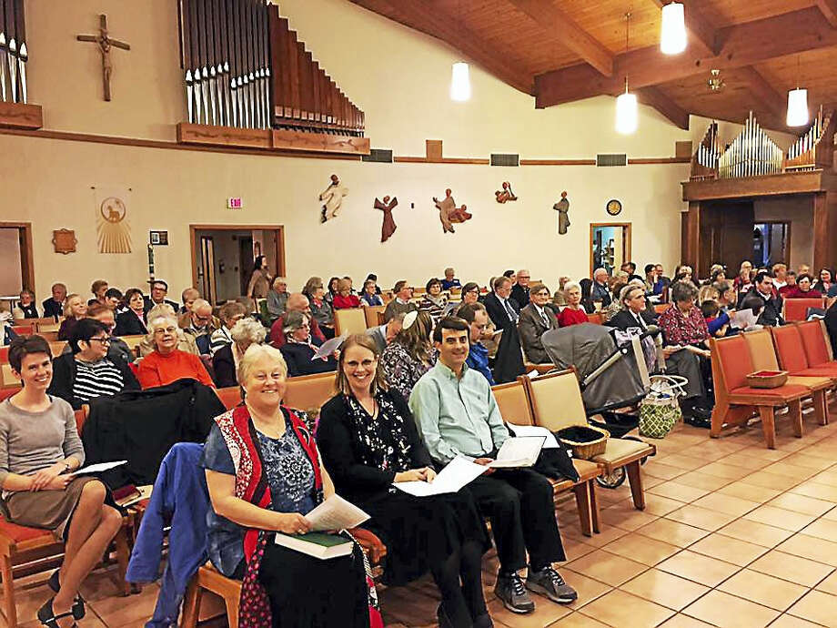 The 2016 annual Interfaith Thanksgiving service led by the Valley Shore Clergy Association at St. Lawrence Church, Killingworth. Photo: CONTRIBUTED PHOTO — Reverend Brett Hertzog Betkoski