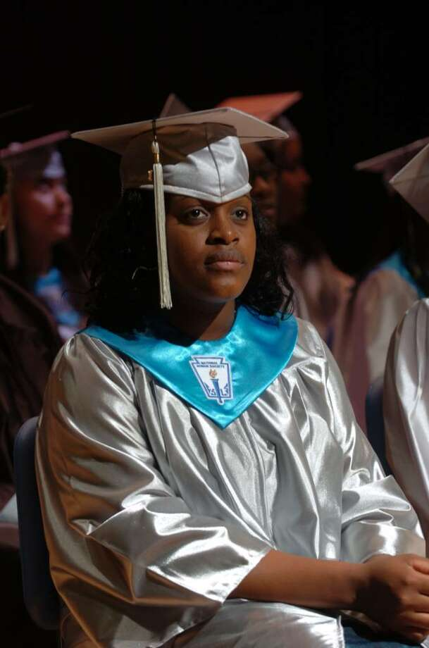 Highlights from Bridge Academy's 13th Annual Commencement Exercises held at Thurgood Marshall Middle School in Bridgeport, Conn. on Wednesday evening June 16, 2010. Graduate Shenice Bennett. Photo: Christian Abraham / Connecticut Post