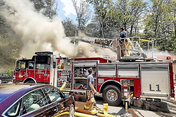 St. Clements Castle in East Hampton/Portland caught fire in late June.