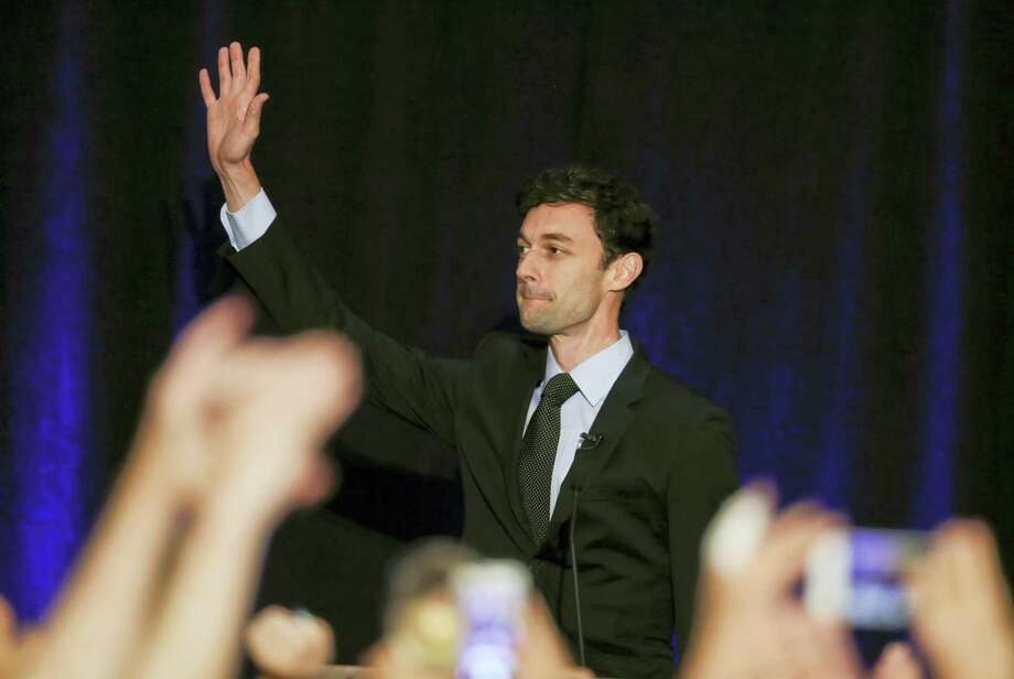Democratic candidate for Georgia's Sixth Congressional Seat Jon Ossoff waves to supporters after speaking during an election-night watch party April 18, 2017 in Dunwoody, Ga. Photo: AP Photo — John Bazemore  / Copyright 2017 The Associated Press. All rights reserved.