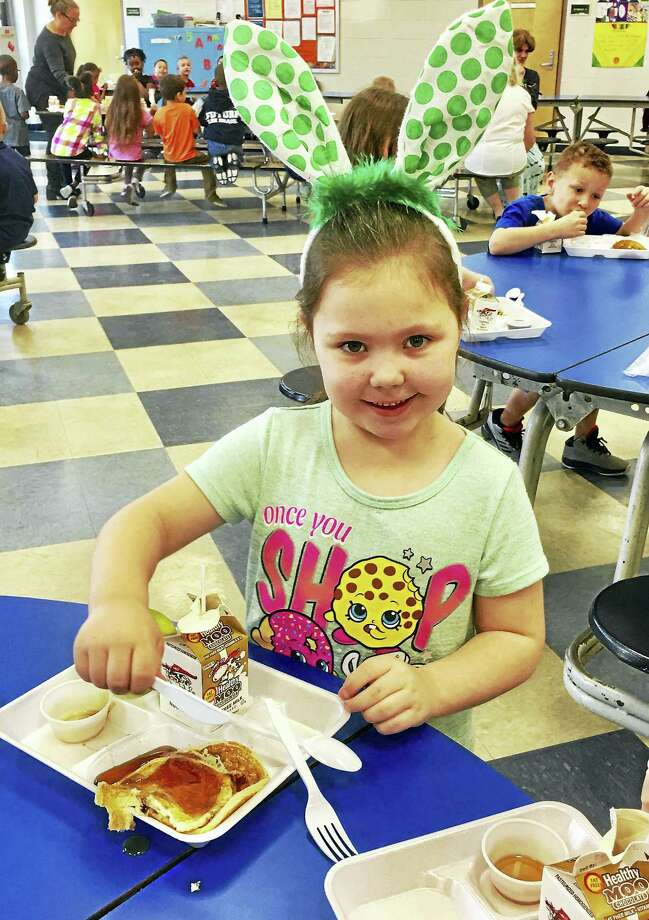 Middletown's Bielefield Elementary School kindergartner Ali Trevorrow is in Maghan Heslin's class. Photo: Contributed Photo