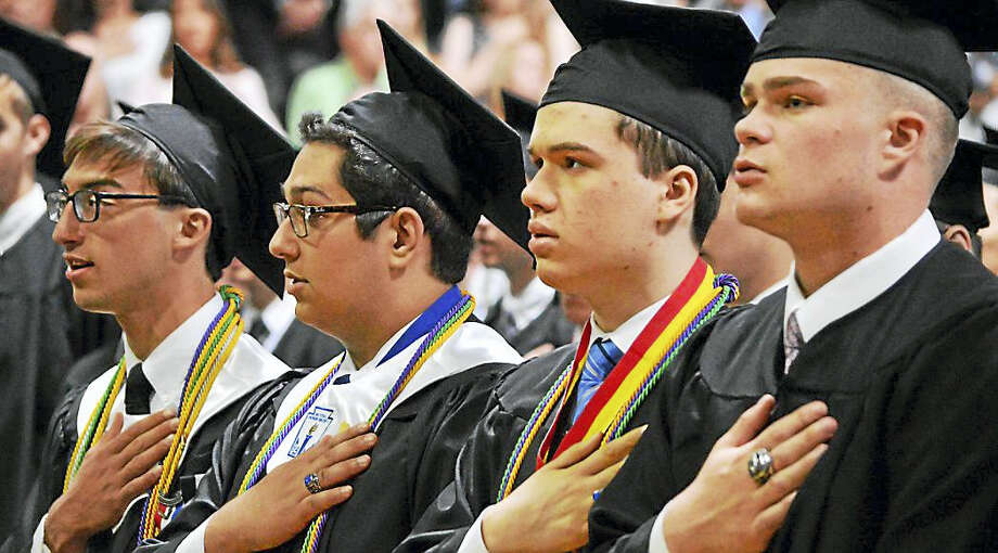 Xavier High School's 51st commencement Sunday was a time of endings and new beginnings for the Class of 2017 in Middletown. Photo: Tom Dzimian — Special To The Press