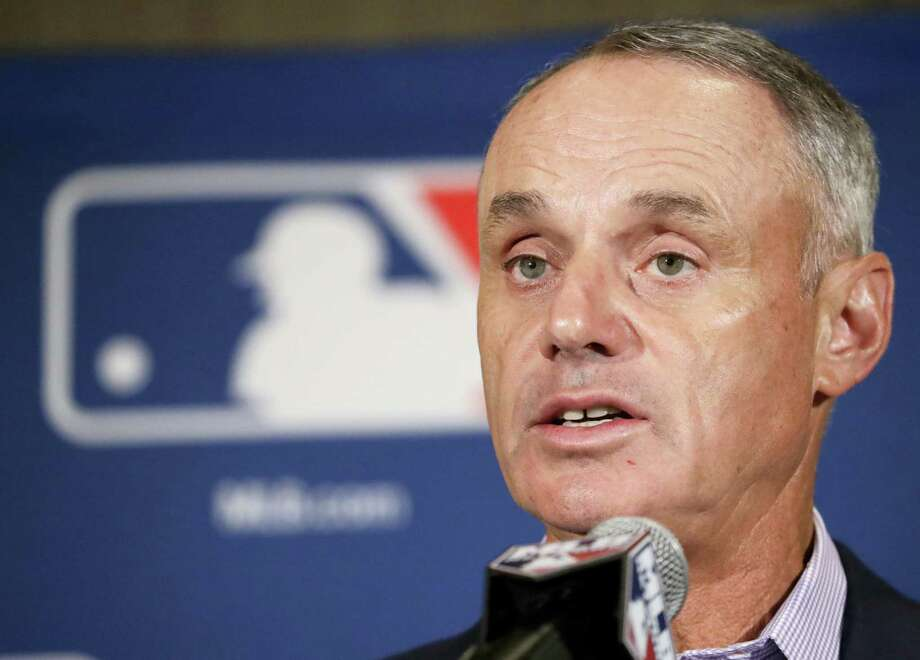 Major League Baseball Commissioner Rob Manfred. Photo: The Associated Press File Photo  / Copyright 2017 The Associated Press. All rights reserved.
