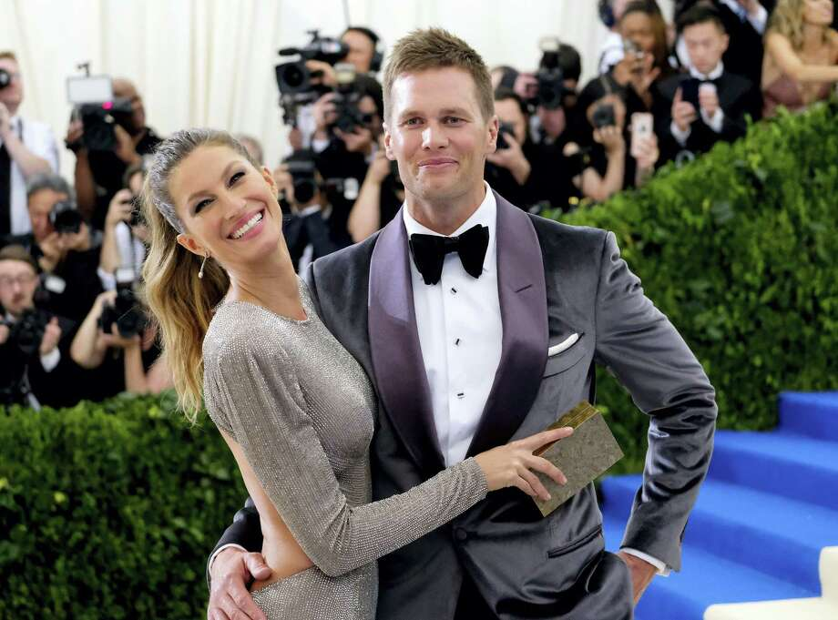 Gisele Bundchen, left, and Tom Brady attend The Metropolitan Museum of Art's Costume Institute benefit gala. Photo: The Associated Press File Photo  / 2017 Invision