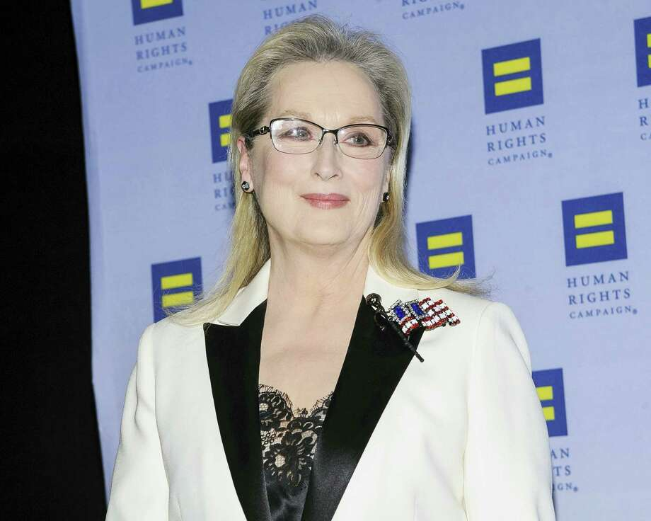 Meryl Streep attends the Human Rights Campaign Greater New York Gala at Waldorf Astoria Hotel on Feb. 11, 2017 in New York. Photo: Photo By Christopher Smith/Invision/AP  / 2017 Invision