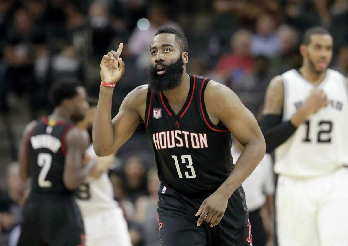 Houston Rockets guard James Harden.