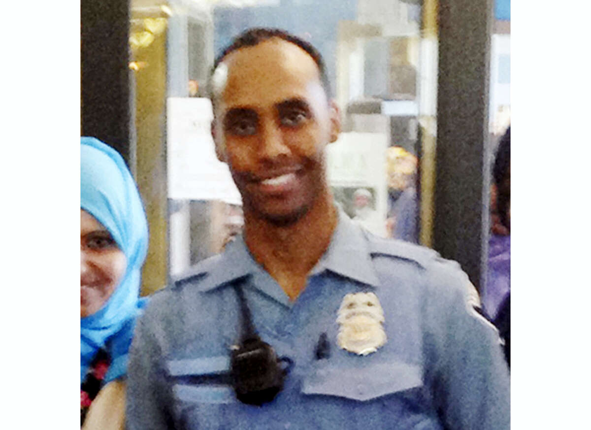 In this May 2016 image provided by the City of Minneapolis, police officer Mohamed Noor poses for a photo at a community event welcoming him to the Minneapolis police force. Noor, a Somali-American, has been identified by his attorney as the officer who fatally shot Justine Damond, of Australia, late Saturday, July 15, 2017, after she called 911 to report what she believed to be an active sexual assault.
