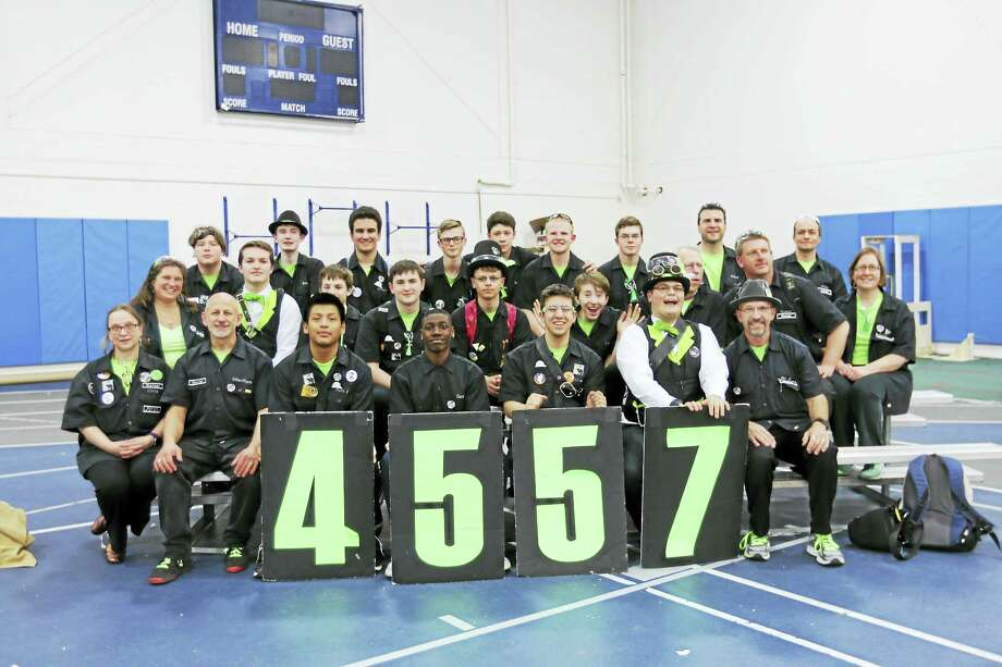 Middletown's Xavier High School Robotics Team 4557 recently competed in the Hartford District Competition and New England District Championships in New Hampshire. Photo: Contributed Photo