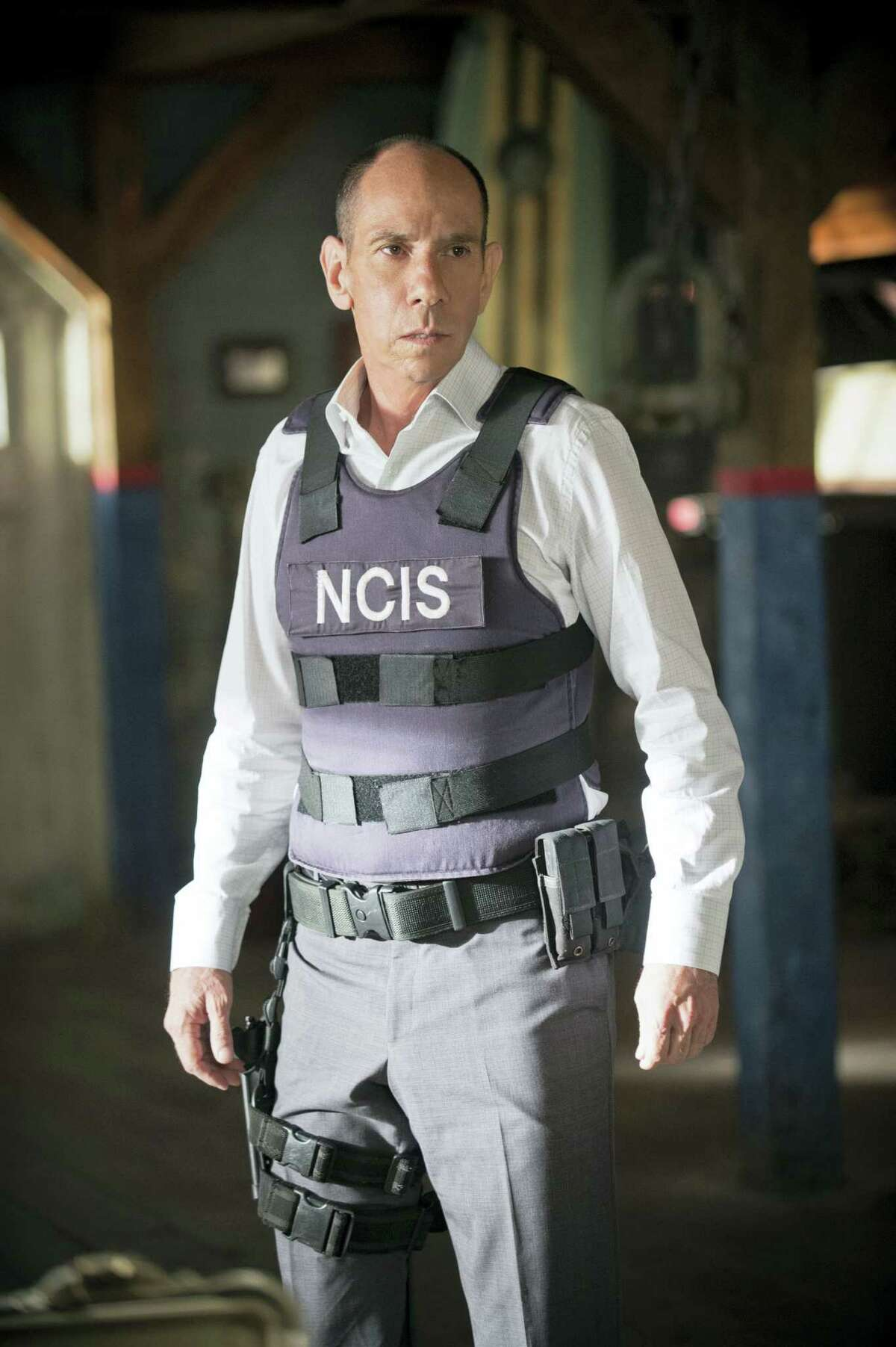 """This image released by CBS shows Miguel Ferrer in character as NCIS Assistant Director Owen Granger in NCIS: Los Angeles. Ferrer, who brought stern authority to his featured role on CBS' hit drama """"NCIS: Los Angeles"""" and, before that, to """"Crossing Jordan,"""" died Thursday, Jan. 19, 2017, of cancer at his Los Angeles home. He was 61."""