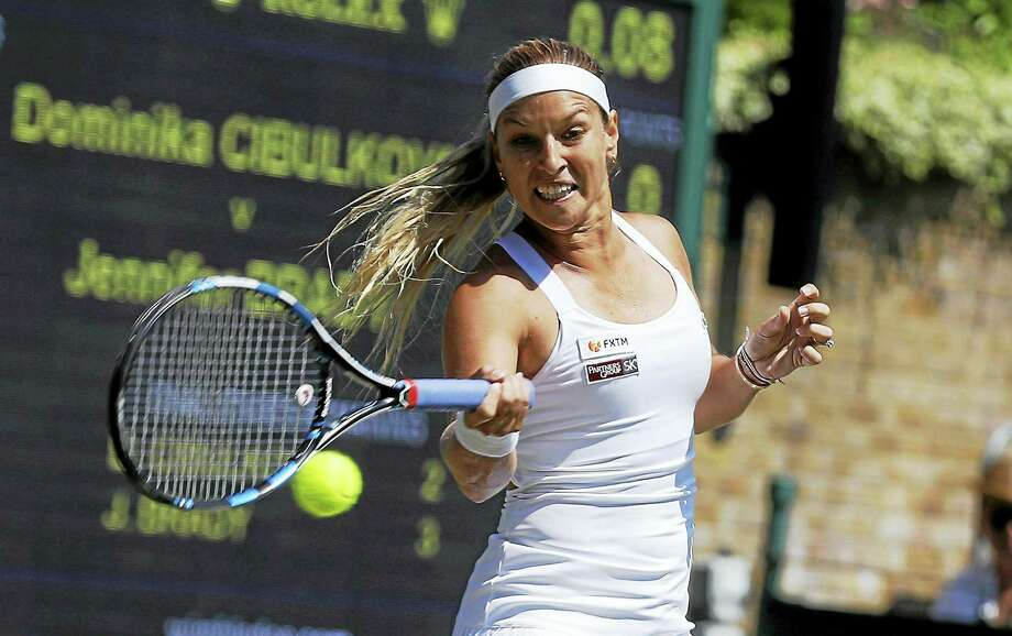 Slovakia's Dominika Cibulkova, ranked 11th in the world, has joined the field for next month's Connecticut Open in New Haven. Photo: The Associated Press File Photo  / Copyright 2017 The Associated Press. All rights reserved.