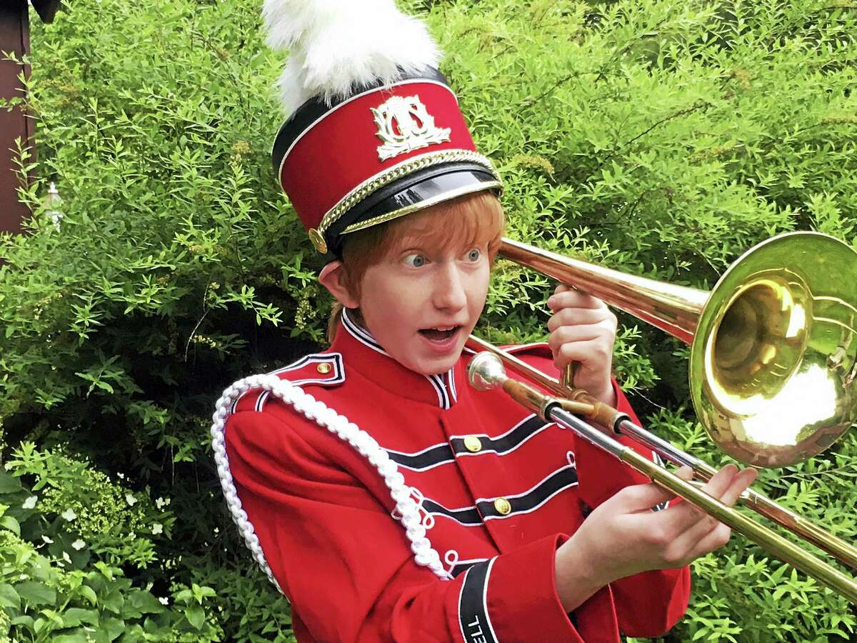 """Liev Shpittalink of Branford plays the role of Winthrop in Artful Living's production of """"The Music Man."""""""