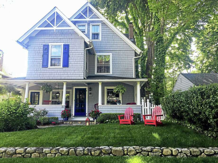 A boardinghouse built in 1890 for shipbuilders working at the wharves in Madison has been transformed into an all-American summer cottage, and is part of this year's Tour of Remarkable Homes, hosted by the Madison Historical Society. Photo: Contributed Photos