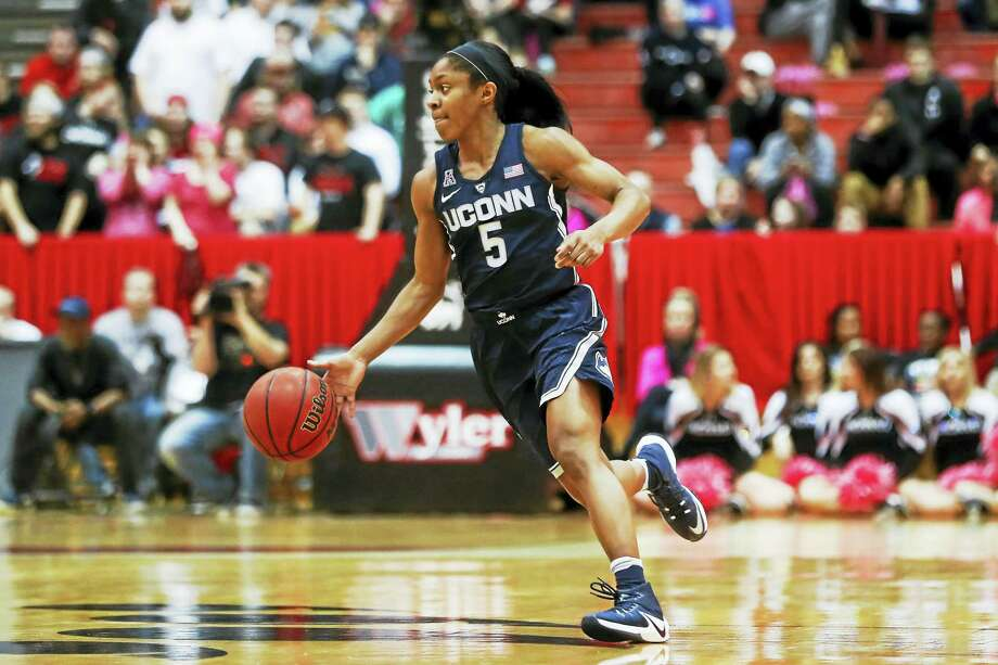 UConn's Crystal Dangerfield will called on to be one of the leaders for the U.S. team at the FIBA U19 World Cup. Photo: The Associated Press File Photo  / AP