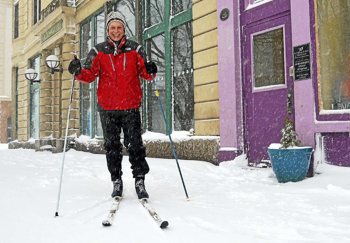 Ron Krom, executive director of St. Vincent dePaul in Middletown, who lives in the North End of the city, said by noontime that he had already gotten three days worth of exercise in, between cross-country skiing to the soup kitchen for some macaroni and cheese and shoveling his driveway.
