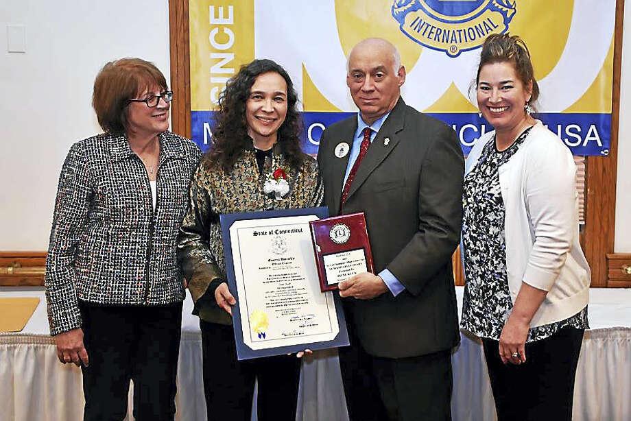 The East Hampton Village Lions club recently named 2017 East Hampton Citizen of the Year recipient, Irene Kuck. Photo: Photo Courtesy Teri Schlosser