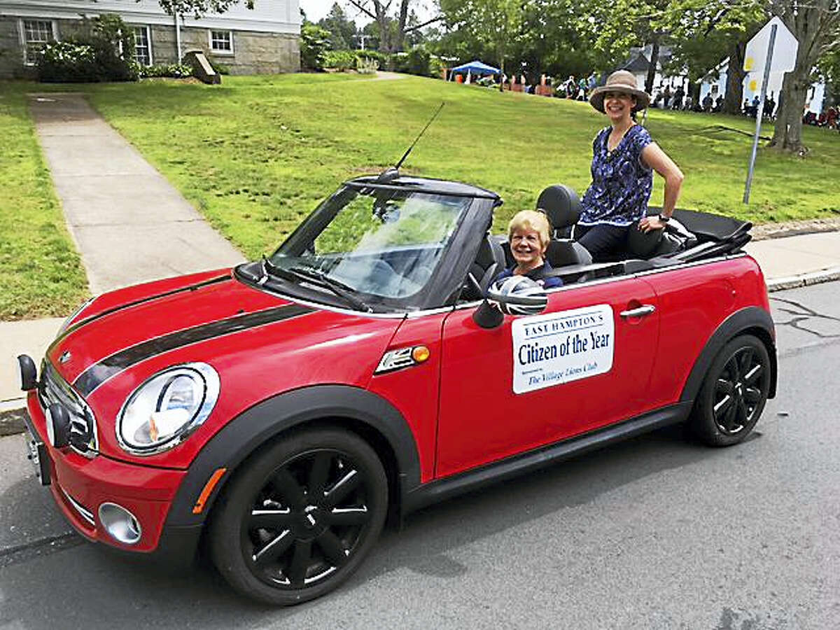 Kuck rode in this year's East Hampton's Old Home Day Parade.