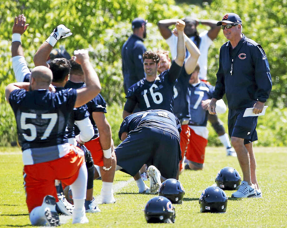 Members of the Chicago Bears run through a practice. Photo: The Associated Press File Photo  / Copyright 2017 The Associated Press. All rights reserved.