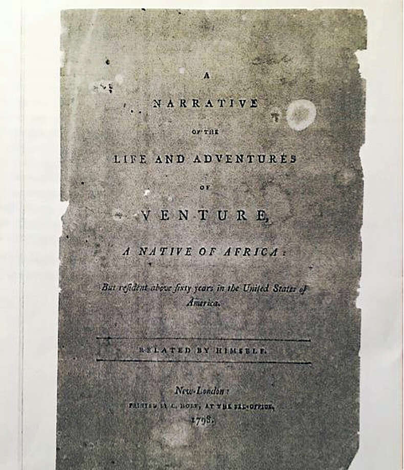 The cover of the 2017 reprinting of Venture Smith's 1798 pamphlet Photo: Courtesy East Haddam Historical Society