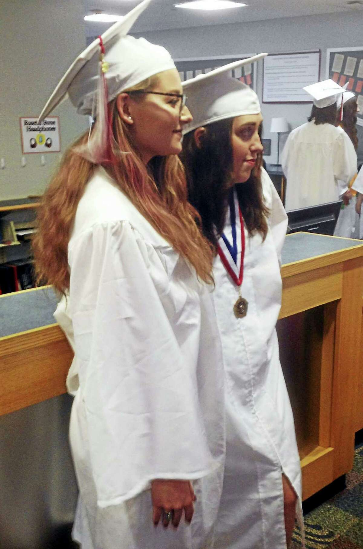 Cromwell High School graduated 142 students on Friday in an indoor ceremony.