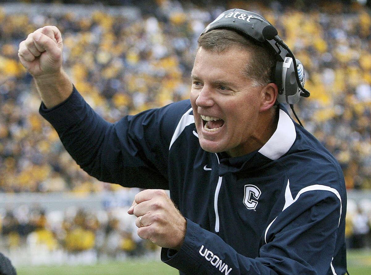 UConn football coach Randy Edsall.