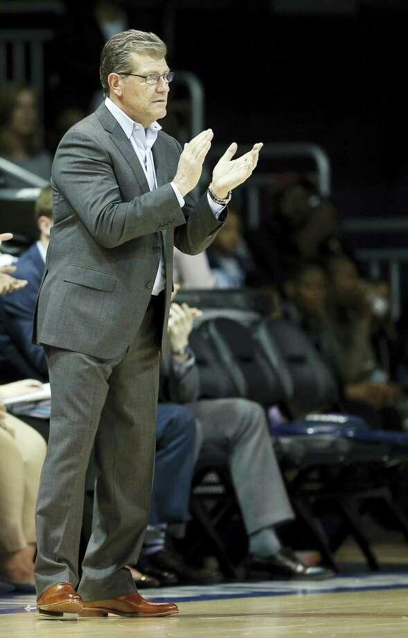 UConn head coach Geno Auriemma. Photo: The Associated Press File Photo  / FR168019 AP