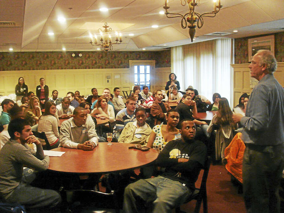 A group of Middletown students attend a recent youth summit. Photo: Courtesy Middlesex United Way
