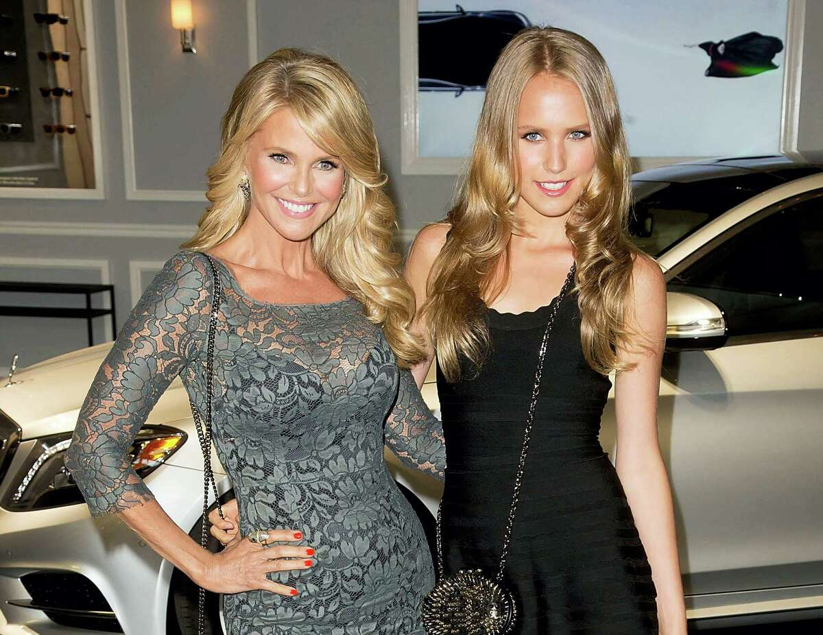 In this Sept. 4, 2013, file photo, Christie Brinkley and her daughter Sailor Brinkley Cook arrive at the 2013 Style Awards in New York. Christie Brinkley is returning to the pages of the Sports Illustrated Swimsuit issue at age 63 and this time she'Äôs also appearing with her two daughters. Brinkley will appear with her daughters, Alexa Ray Joel and Sailor Brinkley Cook, in the issue coming out February 2017.