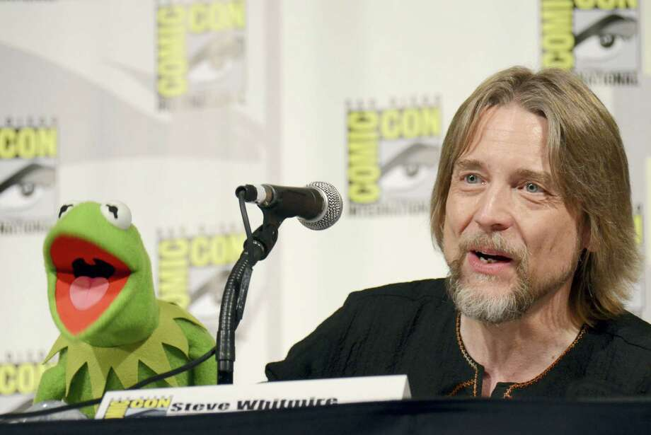 "In this July 11, 2015, file photo, Kermit the Frog, left, and puppeteer Steve Whitmire attend ""The Muppets"" panel on day 3 of Comic-Con International in San Diego. ABC News and The Hollywood Reporter reported July 10, 2017, that Whitmire is no longer performing the character. Photo: Photo By Tonya Wise/Invision/AP, File   / Invision"