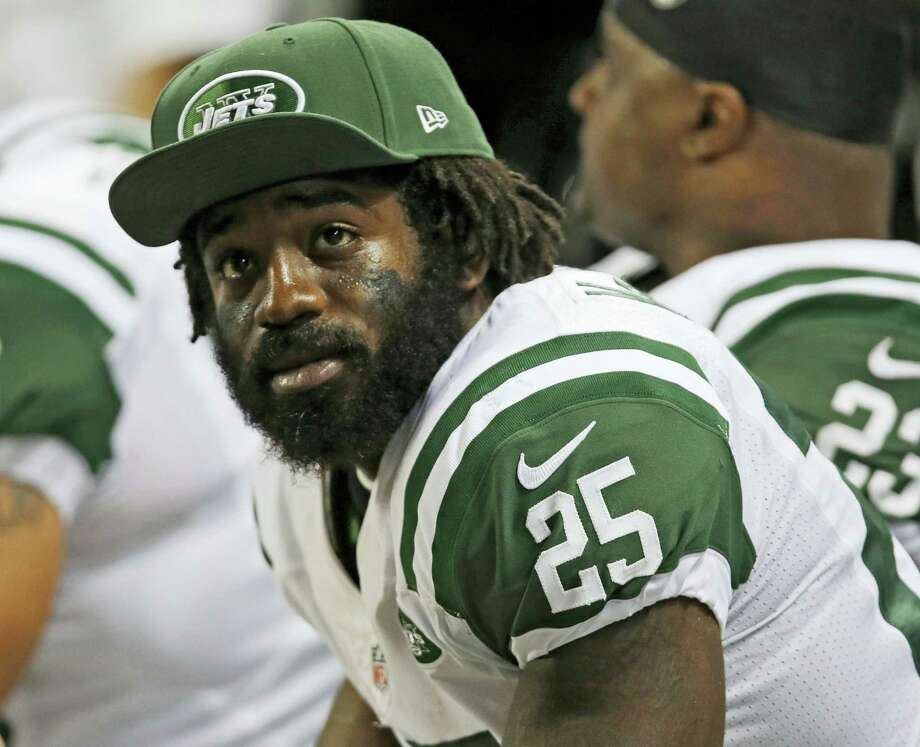 In this Nov. 18, 2012 photo, New York Jets running back Joe McKnight watches from the bench during the fourth quarter of an NFL football game against the St. Louis Rams in St. Louis. Ronald Gasser, 55, of Terrytown, La., accused of killing former NFL running back Joe McKnight during a road rage dispute, was indicted on a charge of second-degree murder, Jefferson Parish District Attorney Paul Connick Jr. said in a news release on Feb. 2, 2017. Photo: AP Photo/Tom Gannam, File  / FR45452 AP