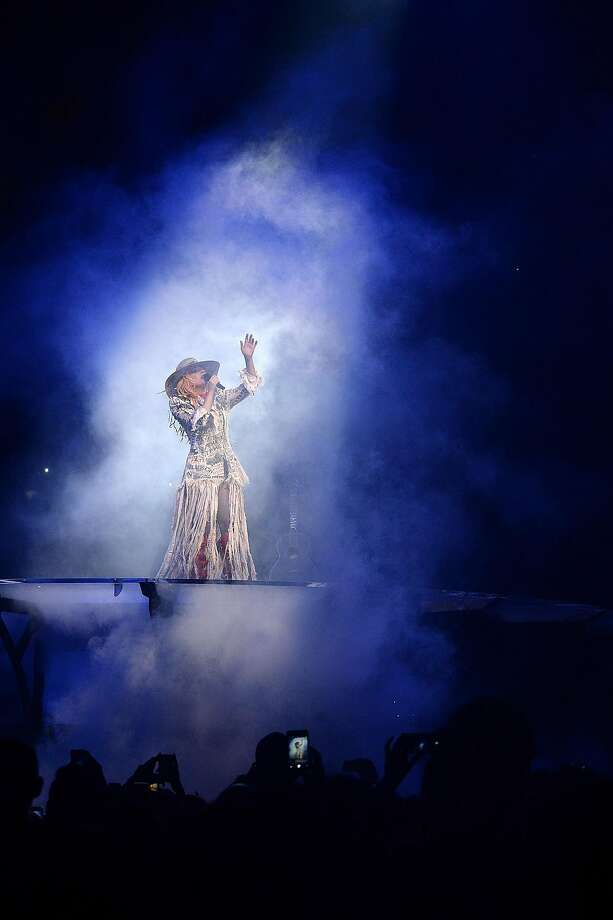 """Lady Gaga performs during her """"Joanne"""" world tour at Rogers Arena on August 1, 2017 in Vancouver, Canada. Photo: Kevin Mazur, Getty Images For Live Nation"""