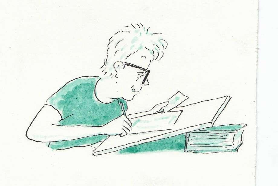 A self-portrait by cartoonist and graphic memoirist Mimi Pond. Photo: Mimi Pond