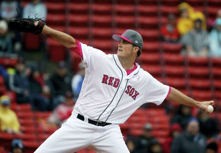Boston Red Sox's Drew Pomeranz pitches during the first inning of a baseball game against the Tampa Bay Rays on May 14, 2017 in Boston. Photo: AP Photo — Michael Dwyer  / Copyright 2017 The Associated Press. All rights reserved.