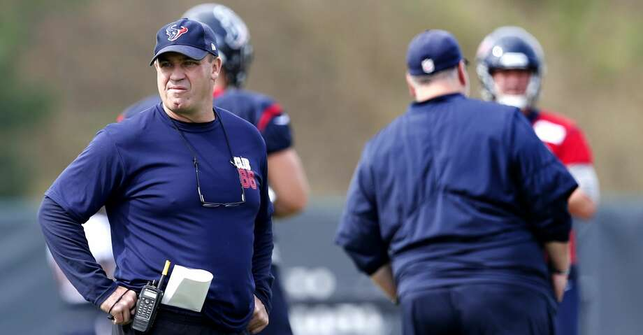 Houston Texans head coach Bill O'Brien watches practice during training camp at The Greenbrier on Friday, Aug. 11, 2017, in White Sulphur Springs, W.Va. ( Brett Coomer / Houston Chronicle ) Photo: Brett Coomer/Houston Chronicle