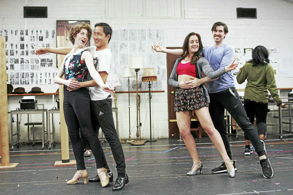From left, Darien Crago, Daniel May, Amy Van Norstrand and Bryan Thomas Hunt in rehearsal recently.