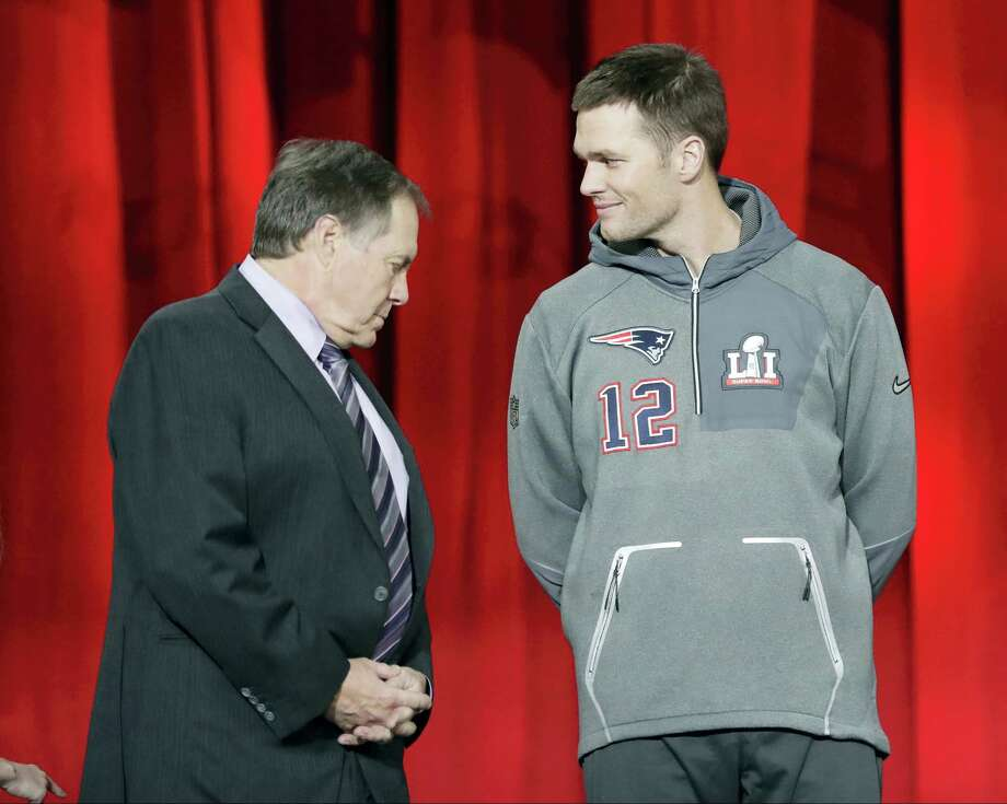 Patriots head coach Bill Belichick, left, and quarterback Tom Brady. Photo: The Associated Press  / Copyright 2017 The Associated Press. All rights reserved.