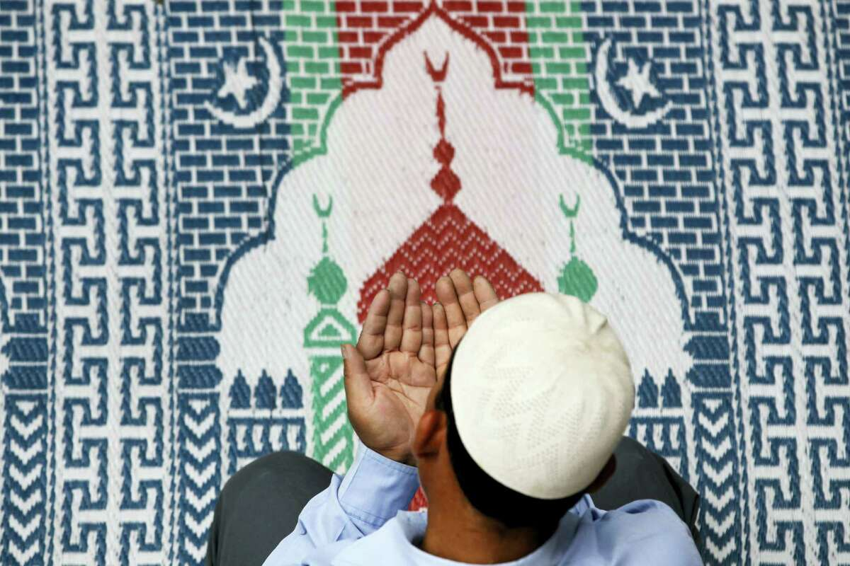 A Nepalese Muslim prays inside a mosque in Kathmandu, Nepal, Friday. Muslims across the world are observing the holy fasting month of Ramadan, where they abstain from food, drink and other pleasures from sunrise to sunset.