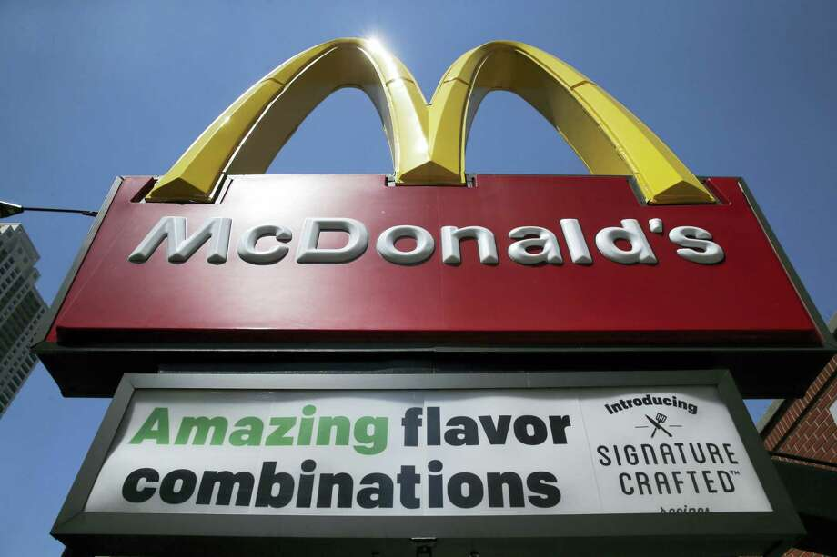 Black and Hispanic children see TV ads for sugary, unhealthful snacks, sodas and fast food far more than for anything else, according to a report issued Tuesday by the Rudd Center for Food Policy and Obesity at the University of Connecticut. McDonald's is at the top of the list of companies advertising to Hispanic children and teenagers, with 10 percent of its TV ad budget, $57.78 million, on Spanish-language stations, followed by Subway, which is based in Milford, Wendy's and Taco Bell. Photo: Charles Rex Arbogast — The Associated Press  / Copyright 2017 The Associated Press. All rights reserved.