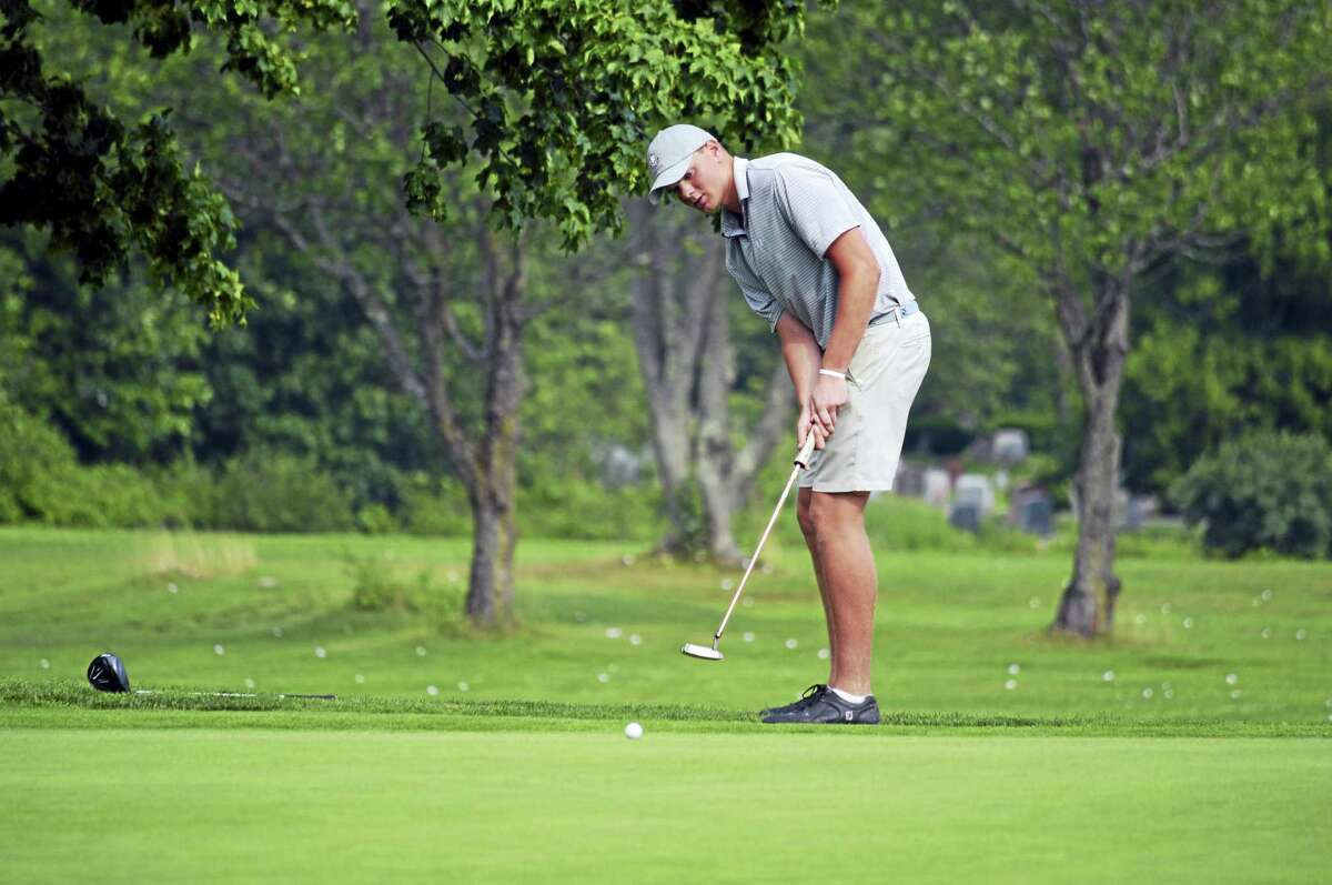 Darien's Will Wilson putts on Day 3 of the 76th Connecticut Junior Amateur at Watertown Golf Club on Wednesday, July 12, 2017. Franz advanced to Thursday's championship match.