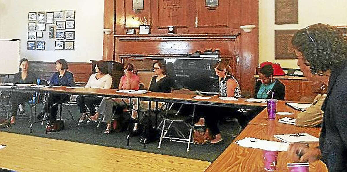 The Middlesex Coalition on Housing and Homelessness and Middlesex Coalition for Children met to talk about Middletown's homeless population in 2014.