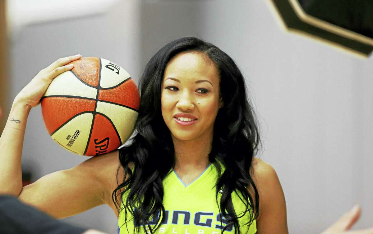 Wings guard Saniya Chong poses for a photo during a media day in Arlington, Texas earlier this month.