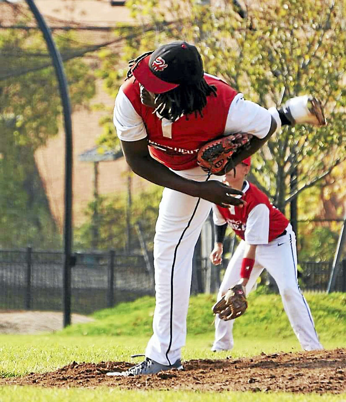 Toby Marineau has made a splash in his first season with the Vinal Tech baseball team.