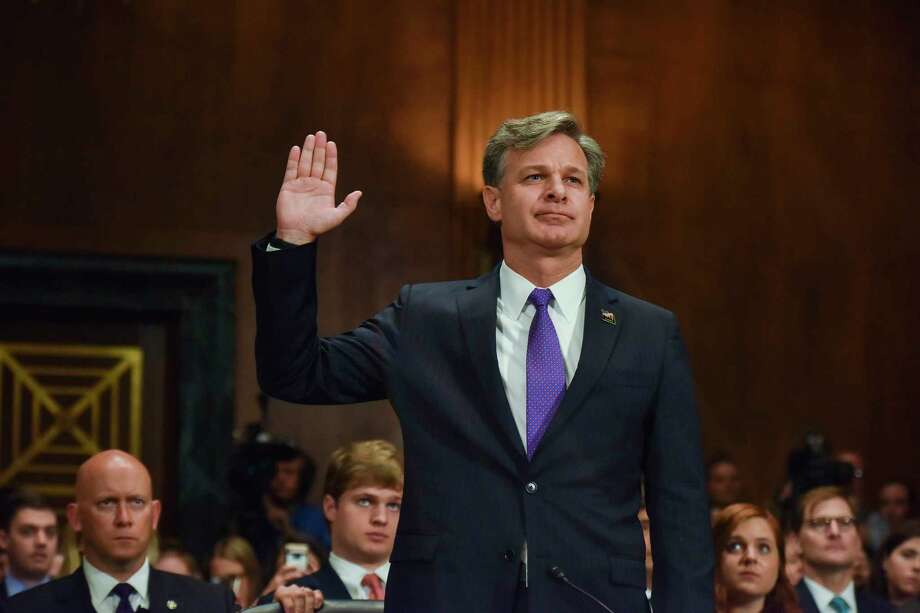Christopher A. Wray, President Trump's nominee to head the FBI, testifies. Photo: Jahi Chikwendiu / Washington Post  / The Washington Post