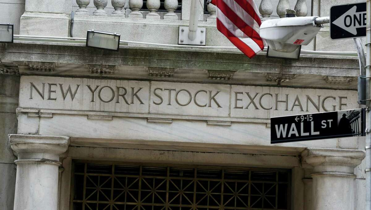 The Wall Street entrance of the New York Stock Exchange.
