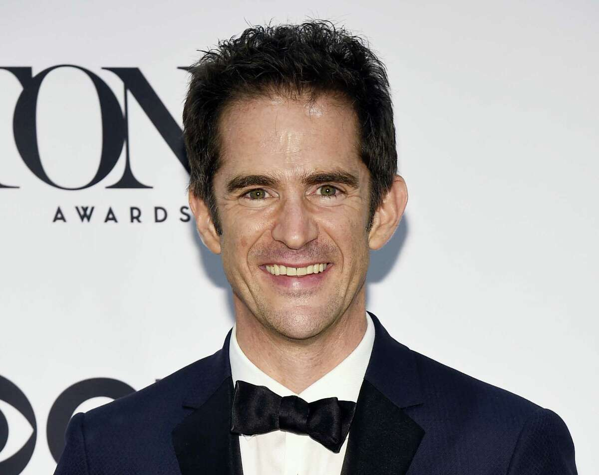 """In this June 12, 2016 photo, Andy Blankenbuehler, winner of the award for best choreography for """"Hamilton"""" poses in the press room at the Tony Awards in New York. Blankenbuehler is directing the new musical """"Bandstand."""""""