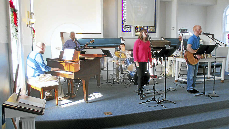 The church Praise Band in action Photo: Courtesy Middlefield Federated Church