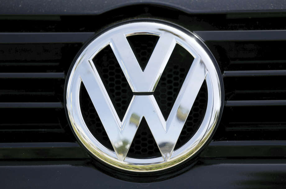 The Volkswagen logo on a car for sale at New Century Volkswagen dealership in Glendale. Photo: Damian Dovarganes — The Associated Press File  / Copyright 2016 The Associated Press. All rights reserved.