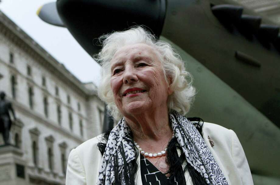 Dame Vera Lynn attends a ceremony to mark the 70th anniversary of the Battle of Britain in central London in 2010. Photo: Lefteris Pitarakis — AP File Photo  / AP2010