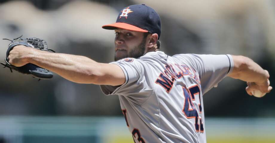 Lance McCullers Jr. doesn't appear all that close to returning to the Astros' rotation. Photo: Jae C. Hong/AP
