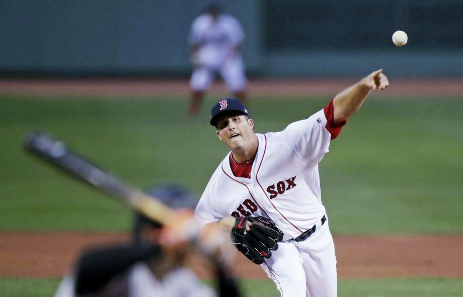 Boston Red Sox starting pitcher Drew Pomeranz delivers during the first inning of the team's baseball game against the Baltimore Orioles at Fenway Park in Boston Photo: CHARLES KRUPA — THE ASSOCIATED PRESS  / Copyright 2017 The Associated Press. All rights reserved.